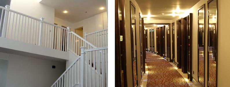 освещение лестничных площадок , корридоров, вестибюлей