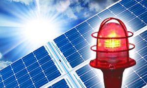 Автономная система светового ограждения АСС на солнечных панелях