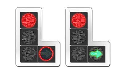 Светофорные секции с встроенным красным сигналом