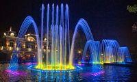 Безопасная и эффектная светодиодная подсветка фонтанов