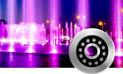 Обзор рынка светодиодных светильников для фонтанов, бассейнов и водоемов.