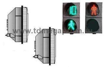 Комплект модулей 200мм для пешеходного светофора(анимация и ТООВ разрешающего сигнала)