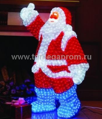 "Акриловая фигура  ""ДЕД МОРОЗ 3D""  LED-MPF-010  (арт.30-3456)"
