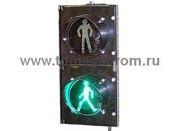 Светофор пешеходный светодиодный П.1 100мм низковольтный  (арт.01-1086)