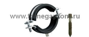 Хомут стальной для труб с резиновым уплотнителем (арт.09)