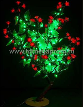"Светодиодное дерево ""Сакура с зелеными листьями""  LED-CBL-Table(NEW)-R      (арт.30-5734)"