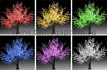 """Светодиодное дерево """"Сакура""""  LED-CBL-3.6-2688-RGB (арт.30)"""