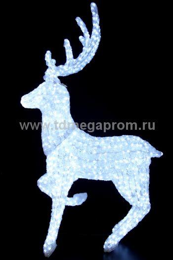"""Акриловая фигура  """"ОЛЕНЬ 3D""""  LED-MPD-055    (арт.30-5560)"""