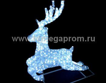 """Акриловая фигура  """"ОЛЕНЬ 3D""""  LED-MPD-043  (арт.30-5559)"""