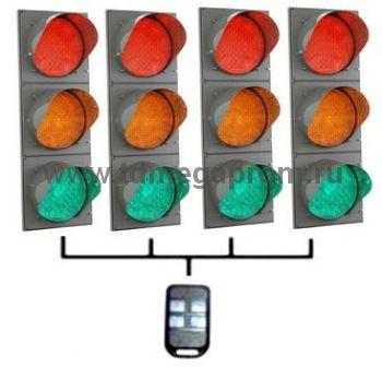 Светофорный комплект «учебный» 200мм  200мм светофоры - комплект по новым требованиям 2014 года к автошколам и автогородкам.  (арт.71-5632)