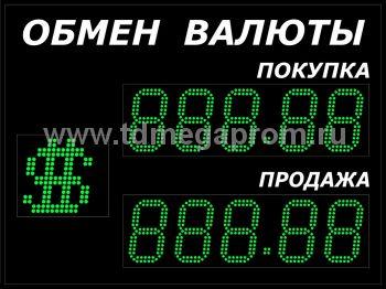 Уличные табло обмена валют пятизначные