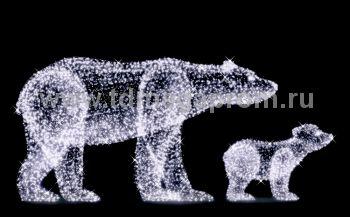 """Светодиодная конструкция большая """"Медведь и медвежонок""""  LED-MKS-507 (арт.35)"""