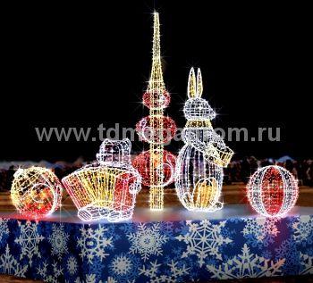 """Светодиодная конструкция большая """"Игрушки""""  LED-MKS-511 (арт.35)"""