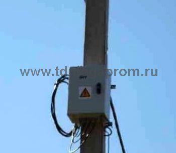 """Шкаф бесперебойного электропитания от электросети мигающих светодиодных светофоров """"БУСС"""" АКБ-220В-12В IP65 (арт.01)"""