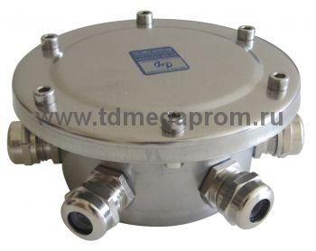 Коробка подводная 6 вводов  (нерж. сталь, IP68)