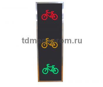 Светофор транспортный светодиодный Т.9 200мм (велосипедный) (ультратонкий) (арт.81)