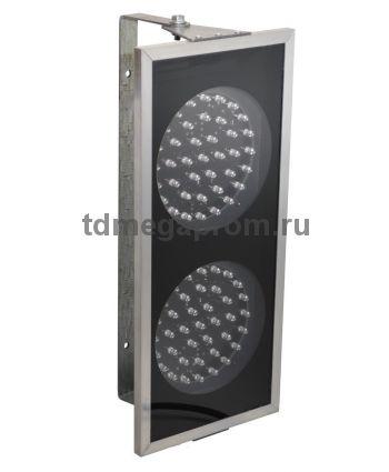 Светофор двухсекционный светодиодный Т.8 100мм (Ультратонкий ЛЮКС) (арт.71)