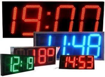 Уличные светодиодные часы термометр