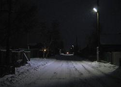 Освещение одной из улиц