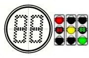 Модуль светодиодный светофорный СТЖ-В-300RG (запрещающий-разрешающий)