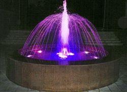 Светодиодная подсветка фонтана с помощью
