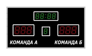 Табло спортивное универсальное Р-4х1-1х1-130G 6х1-200R_б