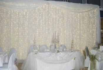 Фон за свадебным столом