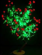 "Светодиодное дерево ""Сакура с зелеными листьями""  LED-CBL-Table(NEW)-R"