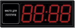 Уличные электронные часы с индивидуальным логотипом (арт.03)
