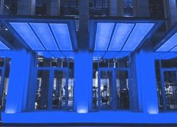 Подсветка козырьков в синем