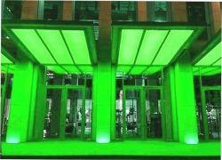 Подсветка козырьков в зелёном
