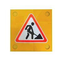 """Дорожный знак 1.25 """"Дорожные работы"""" с сигнальными маячками"""