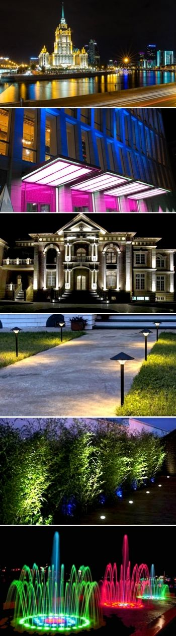 Архитектурное освещение и ландшафтная подсветка