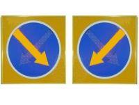 """Светодиодный знак """"Объезд препятствий-700"""" двойная стрелка"""