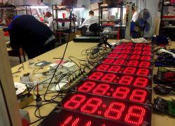 Производство светодиодных уличных часов