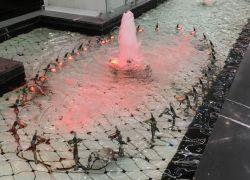 Подсветка декоративного фонтана г.Москва,