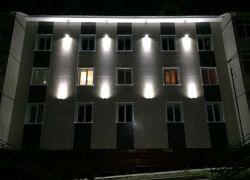 Архитектурная подсветка фасада административных