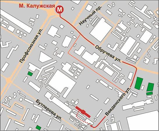 Схема проезда МЕГАПРОМ