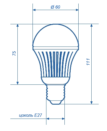 Лампа светодиодная СДЛ-E27-G3211-10,5W