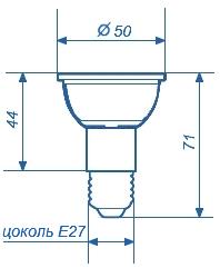 Лампа светодиодная СДЛ-E27-48Д