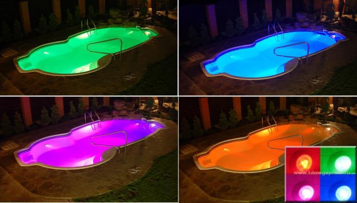 Подсветка для бассейна своими руками видео