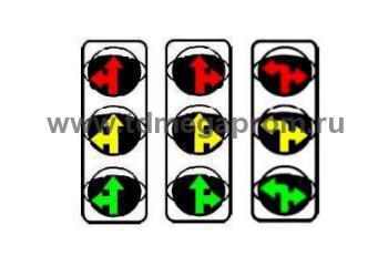 Светофор транспортный светодиодный типа Т.2.вл.1 или Т.2.вп.1 или Т.2.пл.1 200мм  (арт.78)
