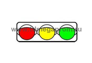 Светофор транспортный светодиодный Т.1.г.2 300мм  (арт.78)