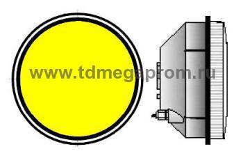 Модуль светодиодный светофорный 300мм, желтый  (арт.78-937)