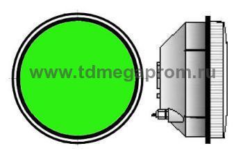 Модуль светодиодный светофорный 300мм, зеленый  (арт.78-2493)