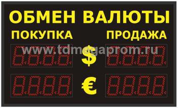 Уличное табло обмена валютР-8х2-110