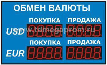 Уличное табло обмена валютР-8х2-150