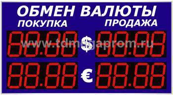 Уличное табло обмена валютР-8х2-270