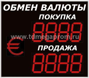 Уличное табло обмена валютР-8х2хП-350