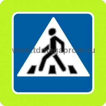 """Модификация светодиодного знака 5.19 """"Пешеходный переход"""" 900х900 (арт.78)"""